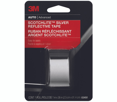 3M 03455C Scotchlite Reflective Safety Tape Silver And White 1 By 36 Inch