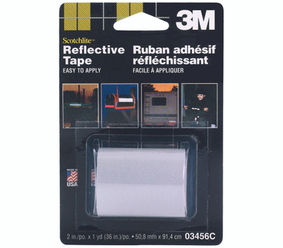 3M 03456 Scotchlite Reflective Safety Tape Silver And White 2 By 36 Inch
