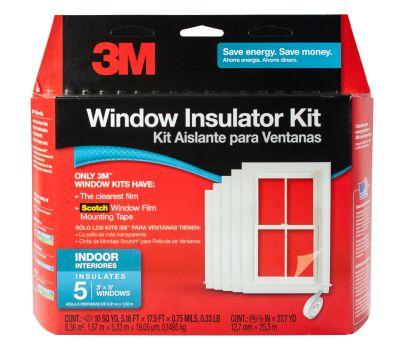 3M 2141 W-6 Interior Window Insulating Kit For 5 Windows
