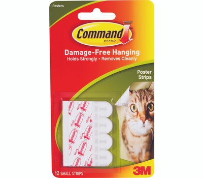 3M 17024 Command Poster Strips, Adhesive 12 Pack