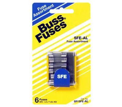 Cooper Bussmann BP/SFE-AL6-RP Automotive Fuse Kit, 4 to 9 a