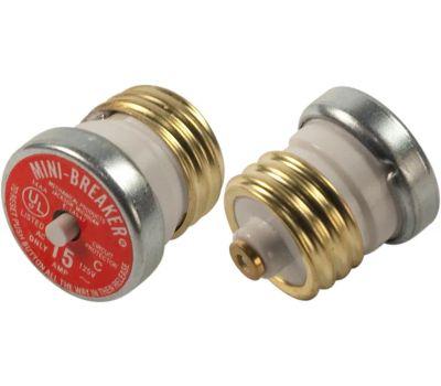 Cooper Bussmann BP/MB-15 Mini Breaker 15 Amp Plug Type Circuit Breaker