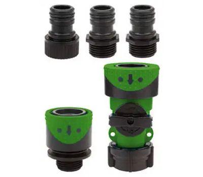 Fiskars 2939QFGT Green Thumb Quick Connector Poly Hose And Faucet Set