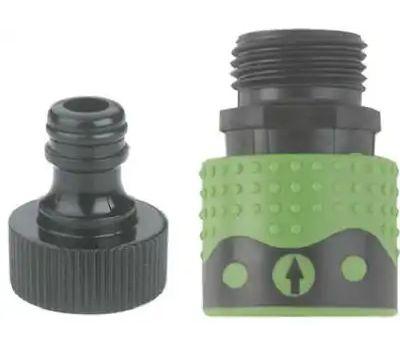 Fiskars 39QCGT Green Thumb Quick Connector Faucet Connector Set