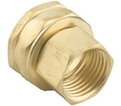 Fiskars 5FPS7FGT Green Thumb Garden Hose Connector Double Female 1/2 Inch By 3/4 Inch