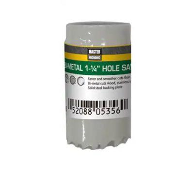 Disston 809822 Master Mechanic 1-1/4 Inch Bi-Metal Hole Saw 1-1/2 Inch Deep