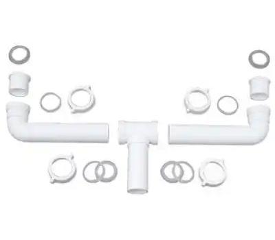 Brass Craft 622-589 Master Plumber 2 Bowl Center Outlet Drain
