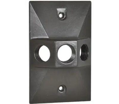 Hubbell RE-3-BR Master Electrician Bronze Weatherproof Rectangular Lampholder Cover
