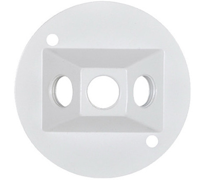 Hubbell RC-3-N-W Master Electrician White Weatherproof Round Lampholder Cover