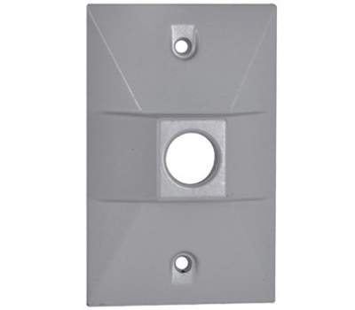 Hubbell RE-1 Master Electrician Gray Weatherproof Rectangular Lamp Cover