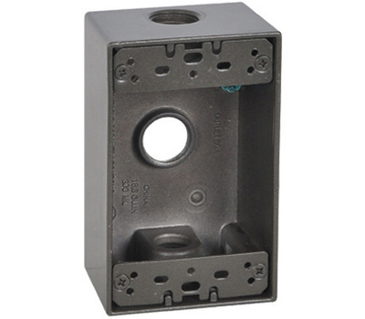 Hubbell FSB50-3-BR Master Electrician Bronze Weatherproof 1 Gang Outlet Box