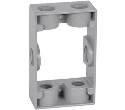 Hubbell EB50-6 Master Electrician Gray Rectangular Box Extension