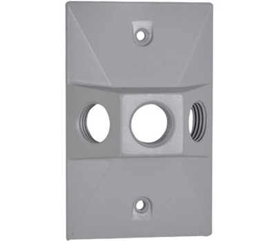 Hubbell RE-3X Master Electrician Gray Weatherproof Lampholder Cover