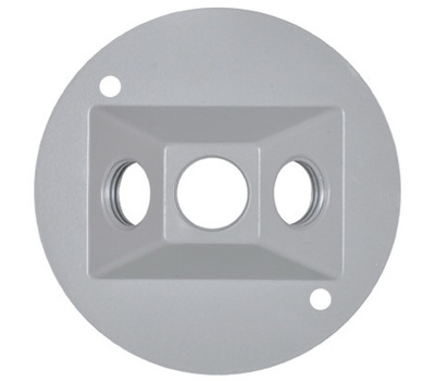 Hubbell RC-3-N Master Electrician Gray Weatherproof Round Lamp Cover