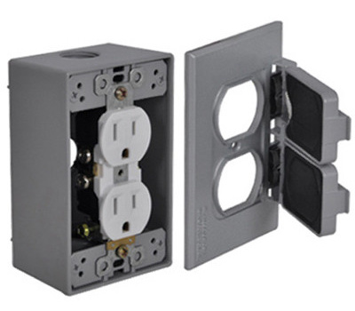 Hubbell FCD35 Master Electrician Gray Duplex Outlet Kit