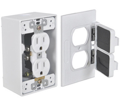 Hubbell FCD35-W Master Electrician White Duplex Outlet Kit