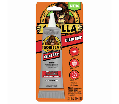 Gorilla Glue 8040002 Clear Grip Contact Adhesive, Clear, 3 Ounce