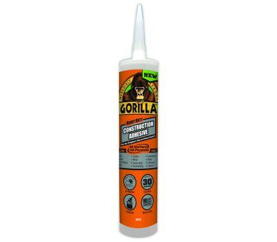Gorilla Glue 8010003 Construction Adhesive, White, 9 Ounce Cartridge