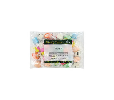 Ruckers Candy 1168 Family Choice Taffy Candy, Assorted Fruits Flavor, 7 Ounce
