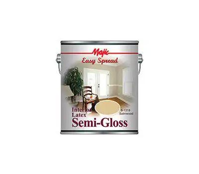 Yenkin Majestic 8-1319-1 Majic Interior Latex Semi Gloss Wall Satinwood Gallon