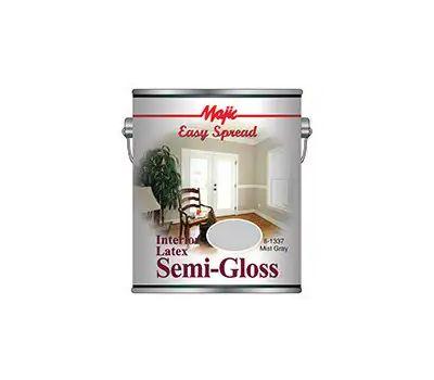 Yenkin Majestic 8-1337-1 Majic Interior Latex Semi Gloss Wall Mist Gray Gallon