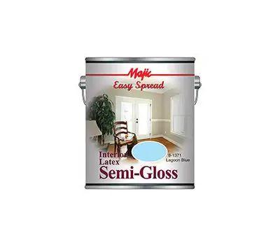 Yenkin Majestic 8-1371-1 Majic Interior Latex Semi Gloss Wall Lagoon Blue Gallon