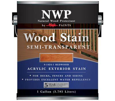 Yenkin Majestic 8-1424-1 Stain Wood Acrylic Semi-Transparent Redwood 1G