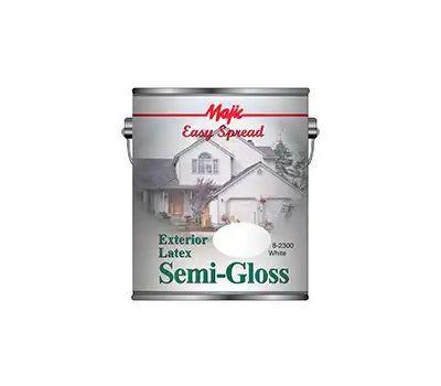 Yenkin Majestic 8-2300-1 Easy Spread Majic Exterior Latex Semi Gloss House White Gallon