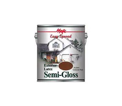 Yenkin Majestic 8-2344-1 Easy Spread Majic Exterior Latex Semi Gloss House Colonial Red Gallon