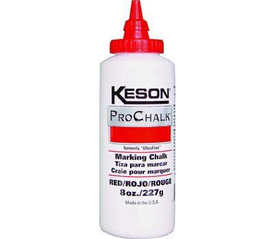 Keson 8R ProChalk 8 Ounce Red Ultrafine Chalk