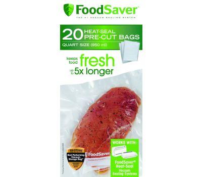FoodSaver FSFSBF0216-NP Bags Heat-Seal Quart 8 Inch By 11 Inch Clear