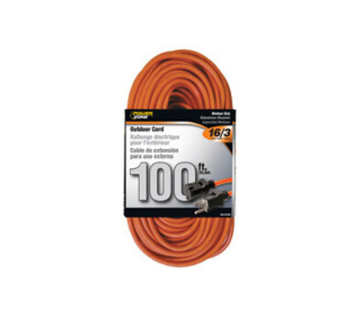 Power Zone OR501635 Extension Cord Outdoor 16/3 X 100 Feet Orange