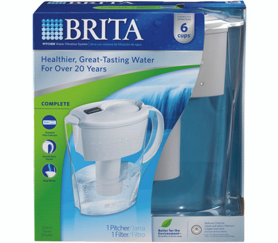 Brita 35250 6 Cup Water Filtration Space Saver Pitcher
