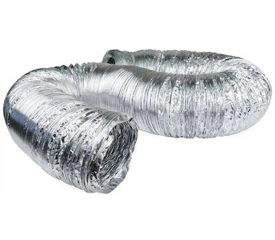 Dundas Jafine AF425 Flexible Duct, 25 Ft L, Aluminum, Silver