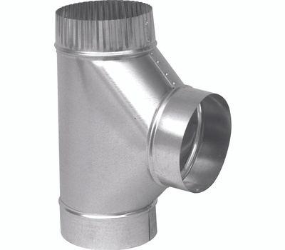 Imperial Manufacturing GV0895 7 Inch 26 Gauge Galvanized Stove Pipe Tee