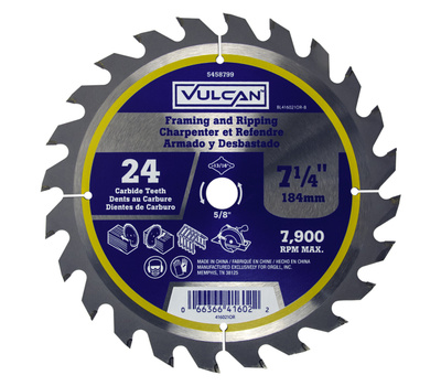 Vulcan 416021OR Thin Kerf Circular Saw Blade, 24T By 7-1/4 Inch