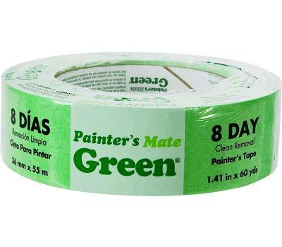 Shurtech 667017 Painter's Tape, 60 Yd L, 1.41 in W, Green