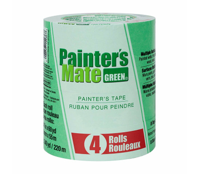Shurtech 684275 Painter's Mate Green 8-Day Painting Tape 1.41-Inch By 60-Yard Pack Of 4 Rolls