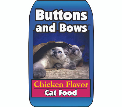 Sunshine Mills 10224 Buttons & Bows 20 Pound Chicken Flavor Dry Cat Food
