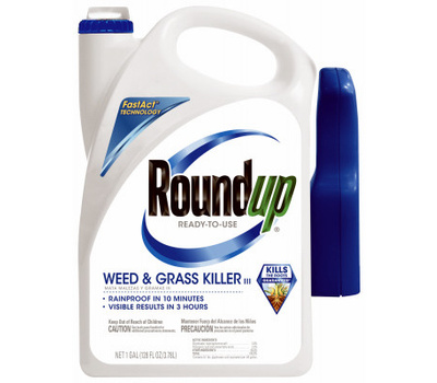 Roundup 5002610 Weed and Grass Killer, Liquid, Spray Application, 1 Gal Bottle