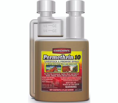 PBI Gordon 9291102 Livestock and Premise Spray, Liquid, Amber, Pungent, 8 Ounce