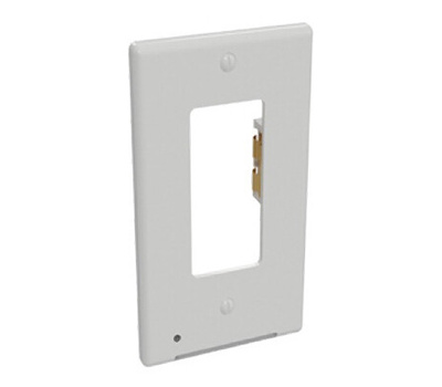 AmerTac LCR-CDDO-W Lumicover Classic Decor Wallplate Night Light, 1-1/4 in L, 4-1/2 in W, 1-Gang, Plastic, White