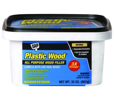 Dap 00525 Plastic Wood Wood Filler, Paste, Musty, Natural, 32 Ounce