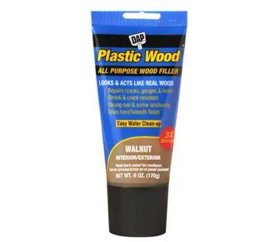 Dap 00584 Colormaxx Wood Filler, Paste, Slight, Walnut, 6 Ounce Tube