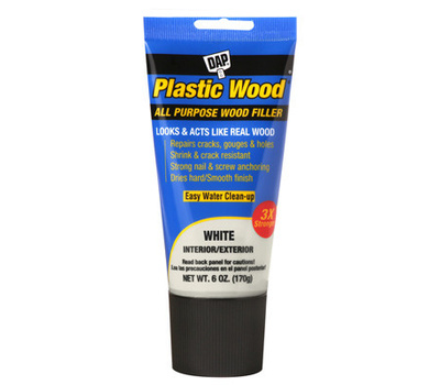 Dap 7079800585 6 Ounce WHT Plastic Wood Filler