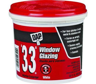 Dap 12122 White Glazing Compound Quart