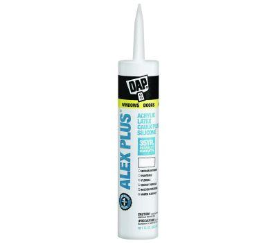 Dap 18156 Acrylic Latex Caulk Plus Silicone Clear
