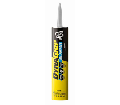 Dap 27501 Dynagrip Construction Adhesive, Tan, 10.3 Ounce Cartridge