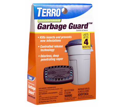 Terro T800 Trash Can Insect Killer, Solid, Mild Chemical, Blue/Yellow, Adhesive Strip Mounting