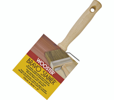 Wooster F5119-4 Bravo Stainer Bristle Polyester Blend Stainer Brush 4 Inch